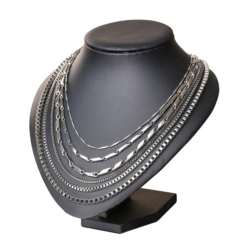 316L нержавеющая сталь серебряного цвета цепь для мужчин и женщин Итальянский стиль тонкий 2 мм 3,5 мм 4 мм 4,5 мм 5 мм ожерелья
