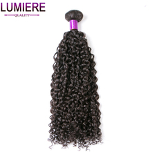 Lumiere Hair Indian Kinky Curly Weave Human Hair 100% Hair Extension 10-28 Inch Hair Weaving Bundles Free Shipping non-remy