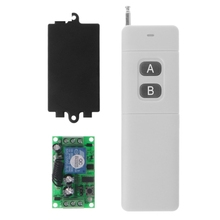 Sistema de interruptor de mando inalámbrico de radiofrecuencia, 3000m, CC, 12V, 2 canales, 315 Mhz, transmisor + receptor de 2 teclas