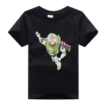 Children High quality T-shirt girl boy summer T shirt buzz lightyear Cartoon cotton tee kids comfortable tops clothes 3T-8T  NN цены