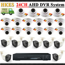 Video Surveillance System 24 Channel AHD DVR Kit with 1280*960P AHD Camera Outdoor Indoor 3.6mm Lens