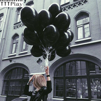 10pcs Black Balloons 10 Inch Thick 2.3 g Latex Balloons Birthday Balloons Wedding Decorations Ballon Party Globos Party Supplies 1