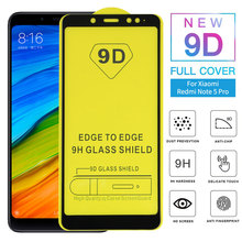 9D Full Glue Cover Tempered Glass For Xiaomi Redmi Note 5 Pro Screen Protector Protective Film For Note 5 Global Adhesive