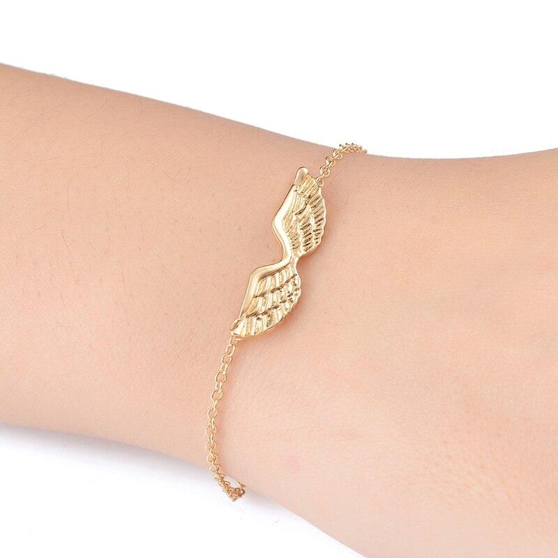 yiustar Women Fashion Jewelry Bracelets Cute Angel Wings Bracelet Guardian Friendship Bracelets B016