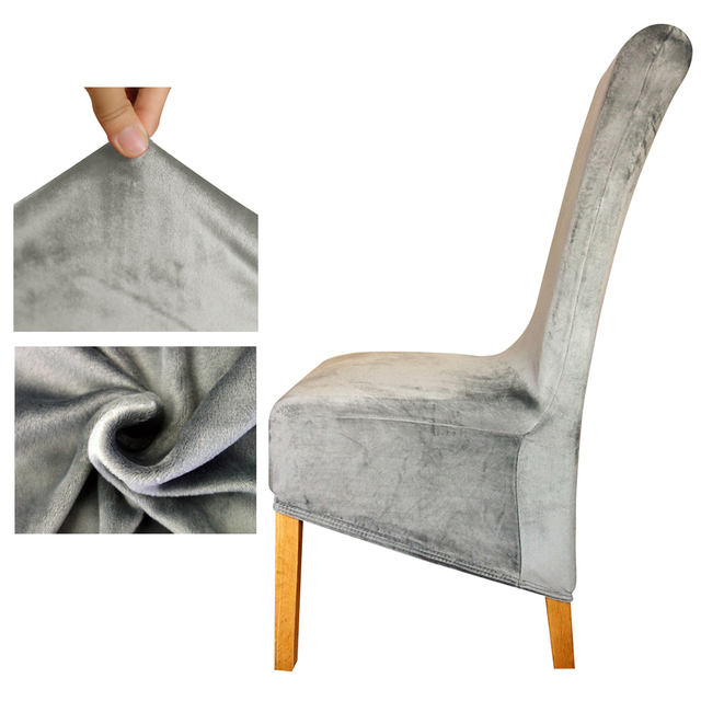 Velvet fabric Europe Size long back Chair Cover seat Chair covers Resterant Hotel Party Banquet housse de chaise home decoration