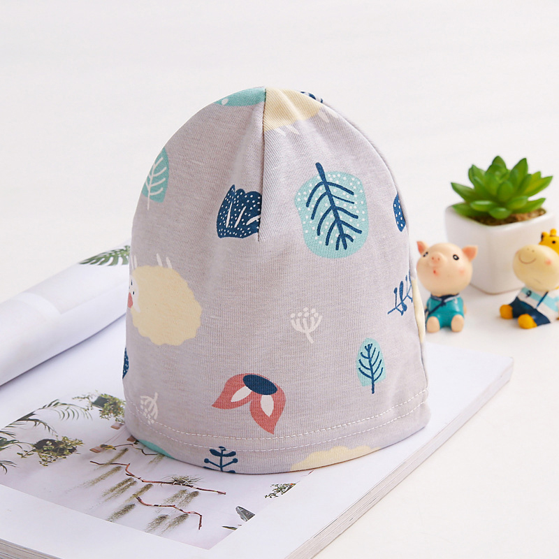 Autumn Winter 100/% Cotton Cartoon Pattern Hats Beanies for Newborn Toddler Baby Knitted Scarf Caps