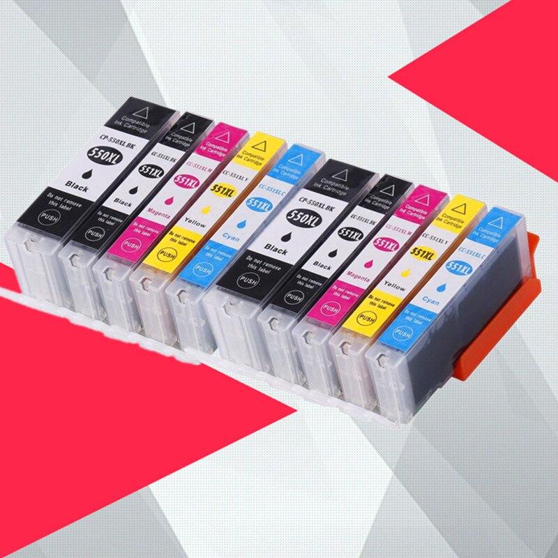 10PK pgi550 pgi-550 cli-551 чернильный картридж для принтера canon PGI550 CLI551 PIXMA IP7250 MG5450 MX925 MG5550 MG6450 MG5650 MG6650 MX725