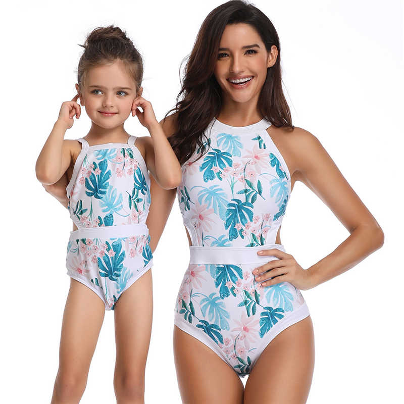 36eb82426e126 Matching Family Bathing Suits Mother Girl Bikini Swimsuit For Mom and  Daughter Swimsuits Female Children Baby