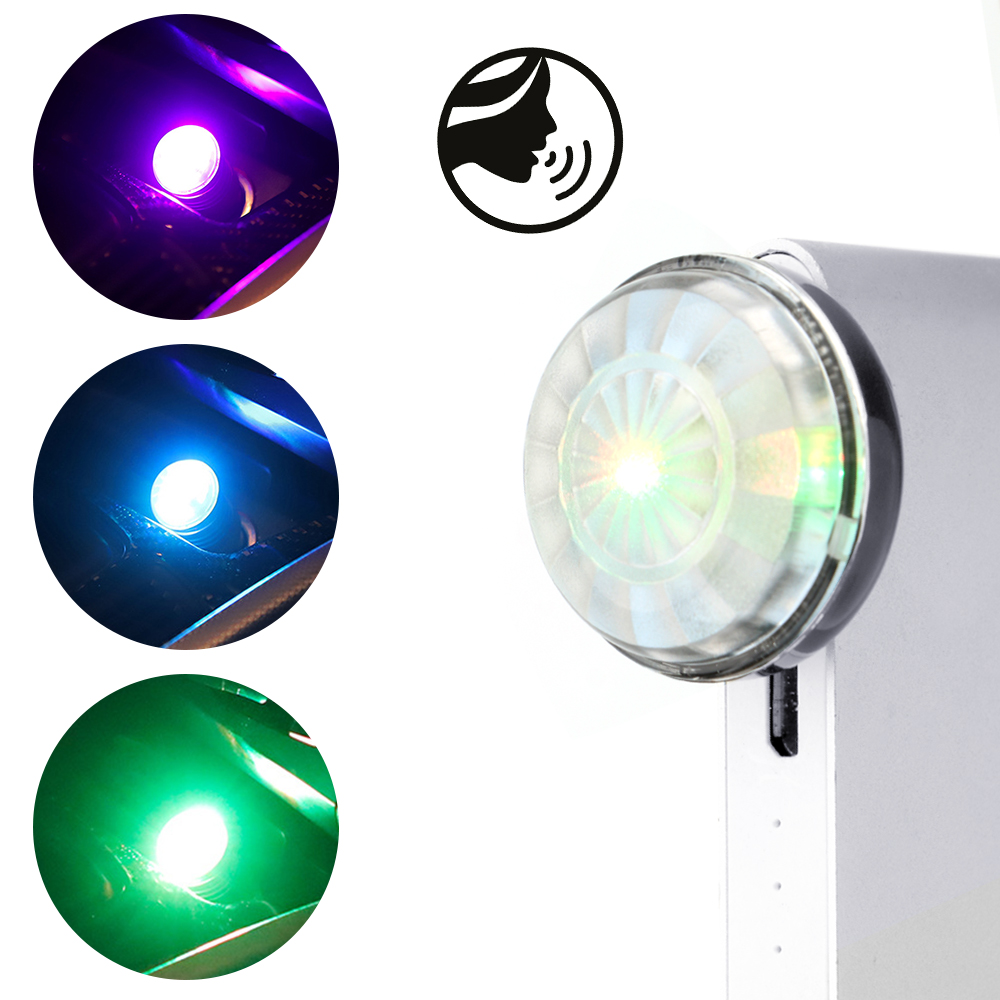 LEEPEE Universal Decorative Lamp Car LED Atmosphere Light USB Magic Stage Effect Light Voice Control DJ RGB Lamp Mini