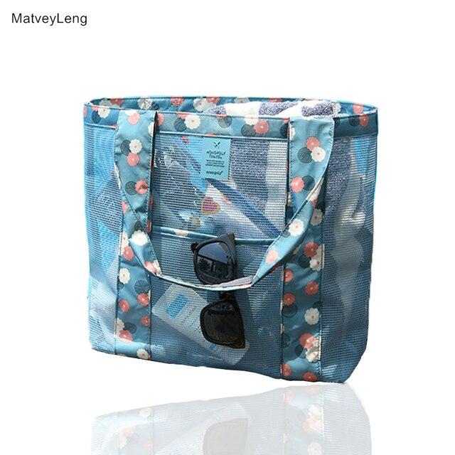 0dc3115e89b4 MatveyLeng 2018 New Fashion Print Foldable Green Shopping Bag Portable  Folding Bag Large Capacity Bag Clothing Organizer-in Shopping Bags from  Luggage ...