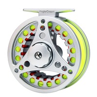 5 6 7 8 WT Fly Reel Combo Silver Large Arbor Aluminum Fly Fishing Reel With