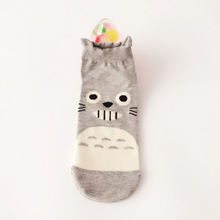 Women Cute Socks Cotton Funny Short  Cartoon Animal Happy 3D Print Harajuku Chinchillas