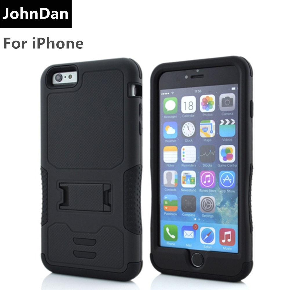 "For Apple iPhone 6s 7 4.7"" PC + Silicone 3D Heavy Duty Military Anti Shock Kickstand Armor Case For iPhone 6 7 Plus 5.5"" Cover"