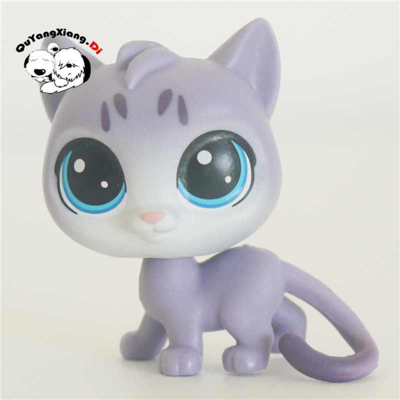 CWM060 Pet Shop Animais Rastejando luz azul gatinho gato boneca action Figure