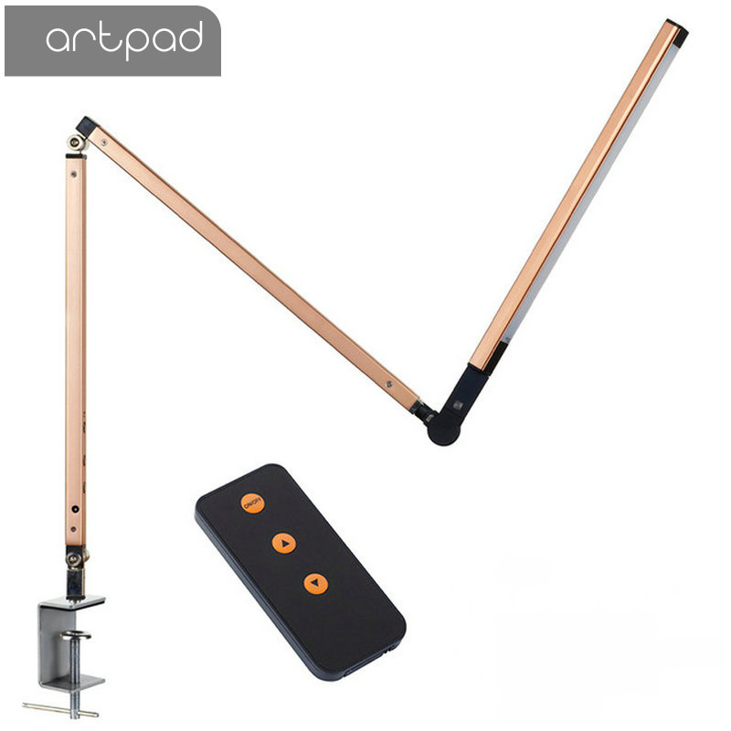 Energy Saving Modern LED Desk Lamp with Clamp Dimmer Swing Long Arm Business Office Study Desktop Light for Table Luminaire