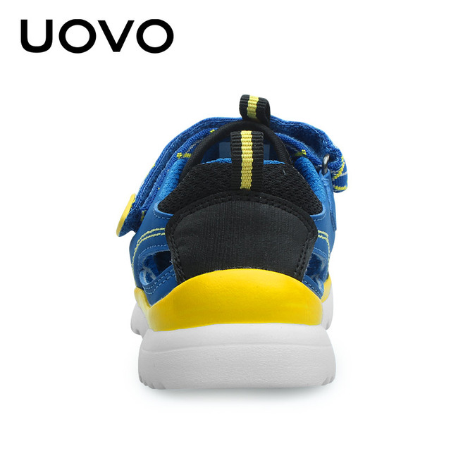 UOVO 2019 Summer Kids Sandals Breathable Sport Boys Sandals Light Weight Beach Shoes Girls Sandals Comfortable Size 28-37