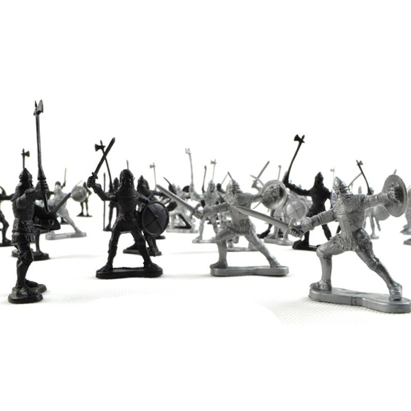 60 հատ / սահմանել միջնադարյան ռազմական - Խաղային արձանիկներ - Լուսանկար 2