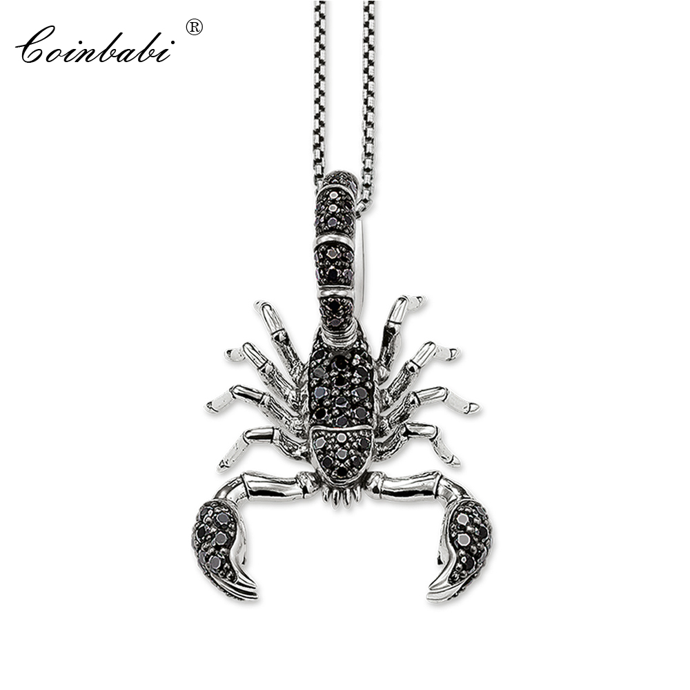 Necklace Scorpion Trendy Gift For Women & Men, Thomas Style Rebel At Heart TS 925 Sterling Silver Fashion Jewelry Wholesale
