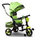Venda quente das Crianças Triciclo 360 Graus Pode Ser Girado para Carrinho de Bebê Carrinho De Bebê com Rodas Pneumáticas e Toldo 4 cor