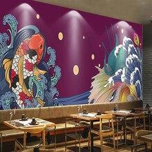 Рекламные обои японский koi Ресторан Суши магазин фоновая стена