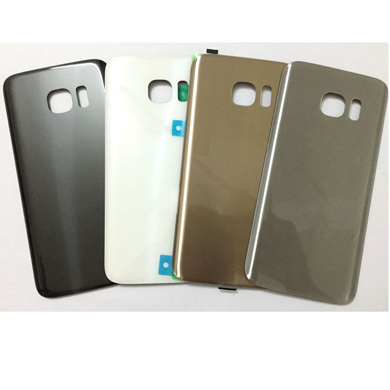 New Back <font><b>Battery</b></font> Cover For Samsung Galaxy <font><b>S7</b></font> <font><b>edge</b></font> G930 G935 Rear <font><b>Glass</b></font> Housing Door Case With Sticker