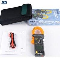 PROVA 2000 True RMS Цифровые токоизмерительные клещи переменного тока/постоянного тока 2000A вольт амперные характеристики тестер