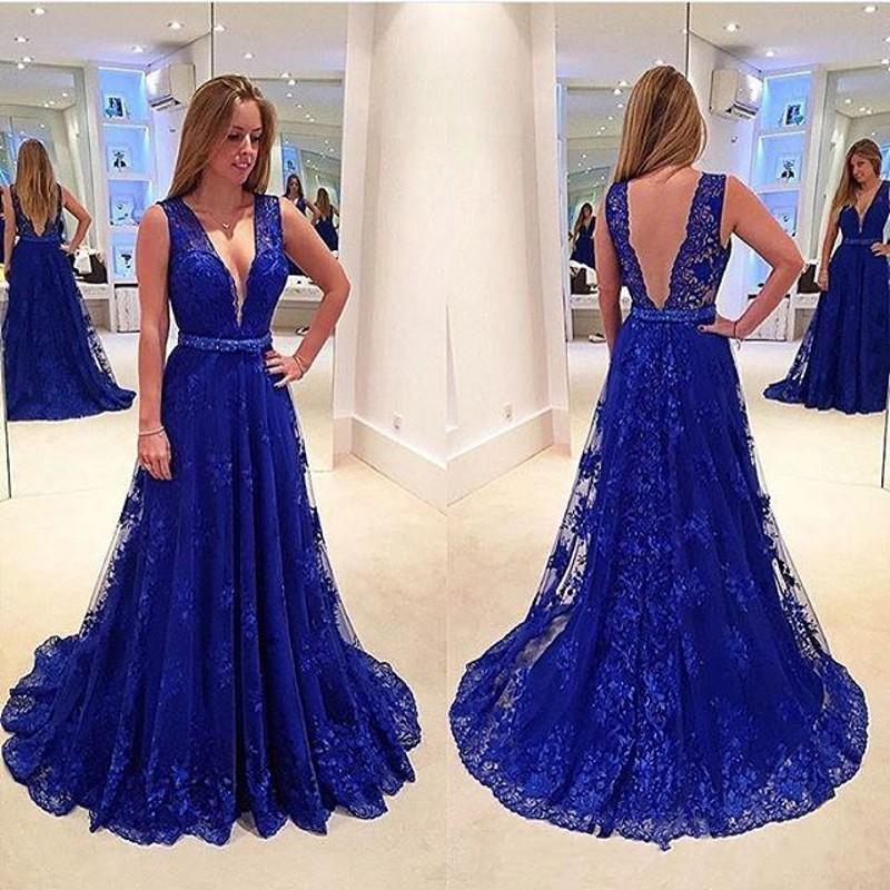 royal blue prom dresses - 800×800