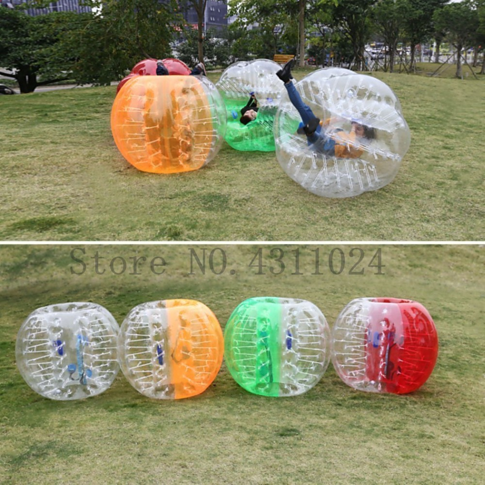 Free Shipping Inflatable Bumper Ball Diameter 1.5M Bubble Soccer Ball 0.8mm TPU Transparent Material Zorb Ball for Adults