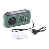 Portable Solar Crank Power FM Radio Radio Dynamo Solar Battery PoweredAM FM Radio With 3 LED