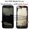 Original para zte blade q lux/qlux 3g 4g touch pantalla Digitalizador + Ensamblaje de la Pantalla LCD piezas de Reparación + marco de la tapa frontal bisel