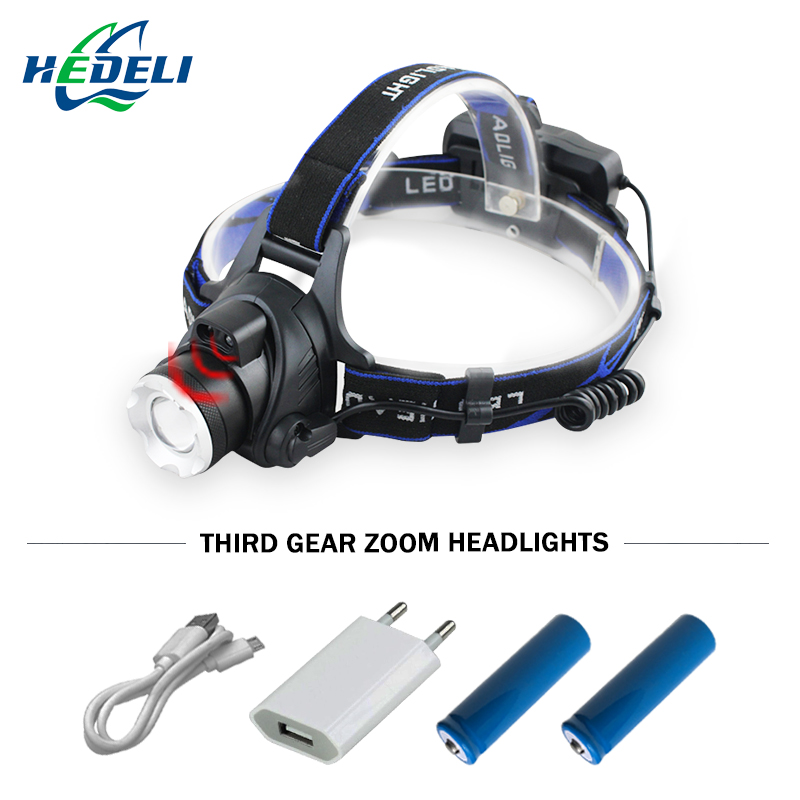 IR Sensor Headlight CREE XM L2 Induction Micro USB Rechargeable Lantern XML T6 Headlamp head lamp Flashlight Head Torch18650 ...