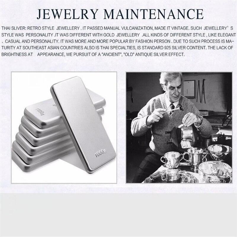 JINSE традиционный 925 серебряную Буддизм тайский серебряный браслет Для мужчин мантры Сутра сердца 12 мм Бусины Талисманы браслет оптовая продажа 64 г - 2