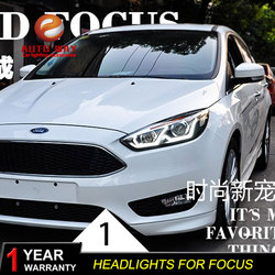 Car Styling Head Lamp case for Ford Focus 2015 Headlights LED Headlight DRL Lens Double Beam Bi-Xenon HID car Accessories