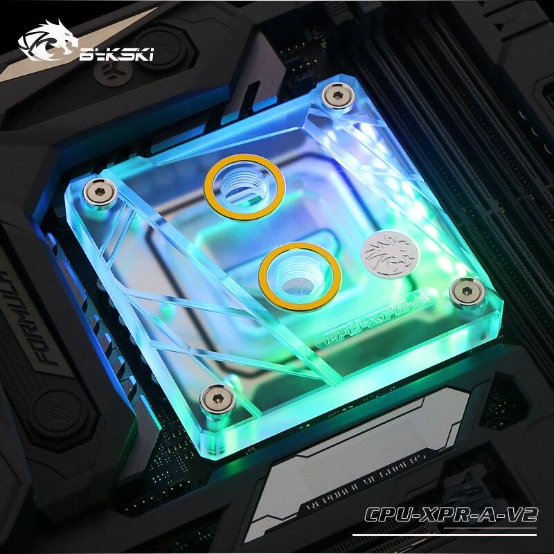 Bykski Процессор воды блок использовать для INTEL LGA1150 1151 1155 1156 2011 2066X99X299 I7/5 В 3PIN заголовок RBW легкую поддержку AURA синхронизации