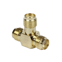SMA Female to Two SMA Female Triple T RF Adapter connector 3 way Splitter
