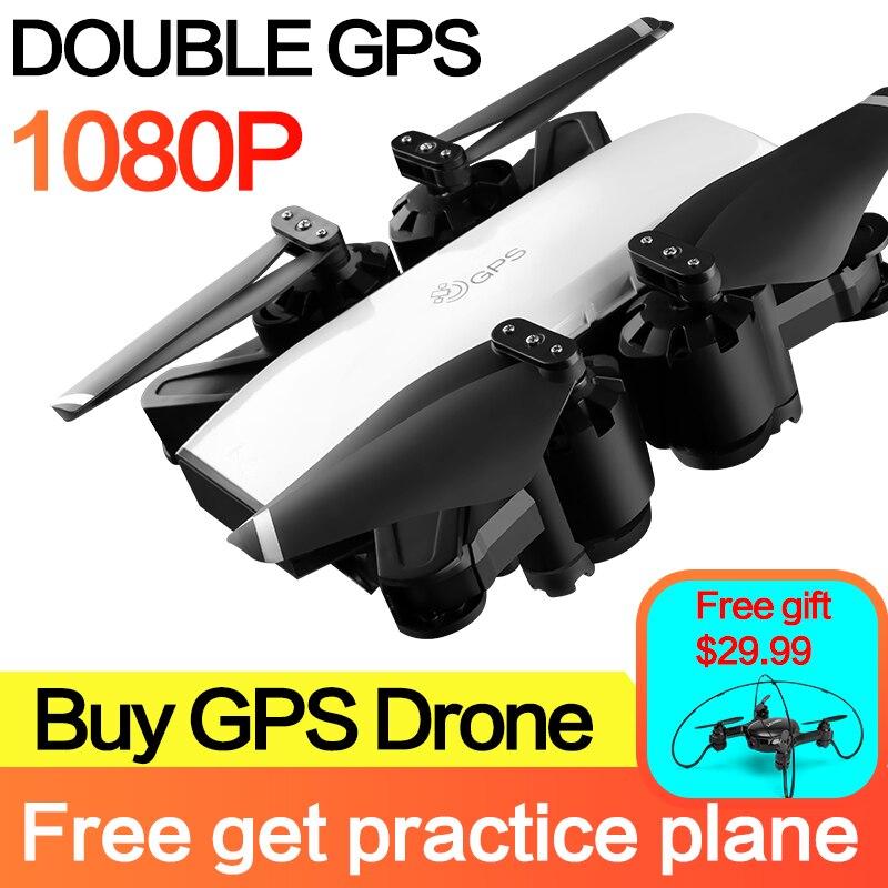S20 drone 1080 P HD Камера с двойной gps FOLLOW ME FPV нмиц Радиоуправляемый квадрокоптер складной селфи видео в реальном времени для детского подарка для ...