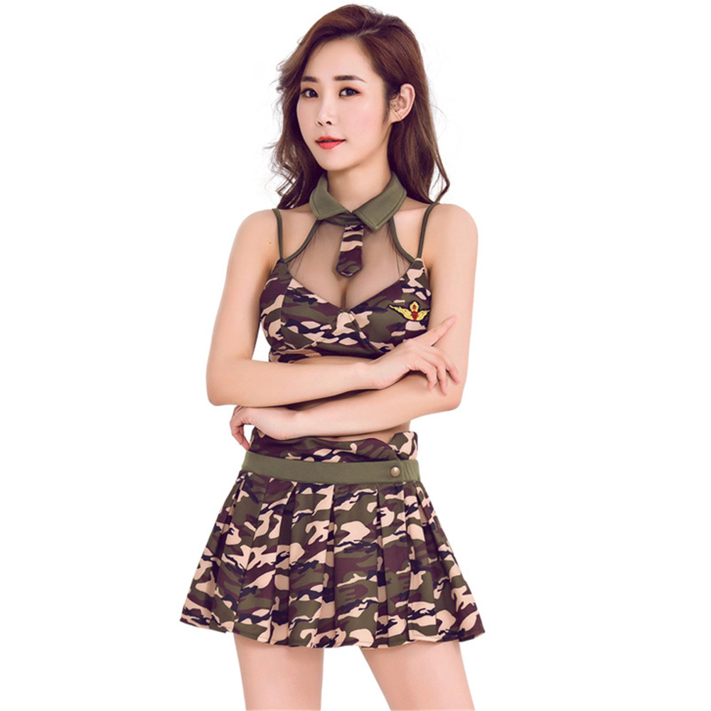 New Camouflage Suit <font><b>Sexy</b></font> Perspective Camouflage <font><b>Army</b></font> Costumes Sex <font><b>Cosplay</b></font> Role-playing Fun Police Underwear Uniforms image