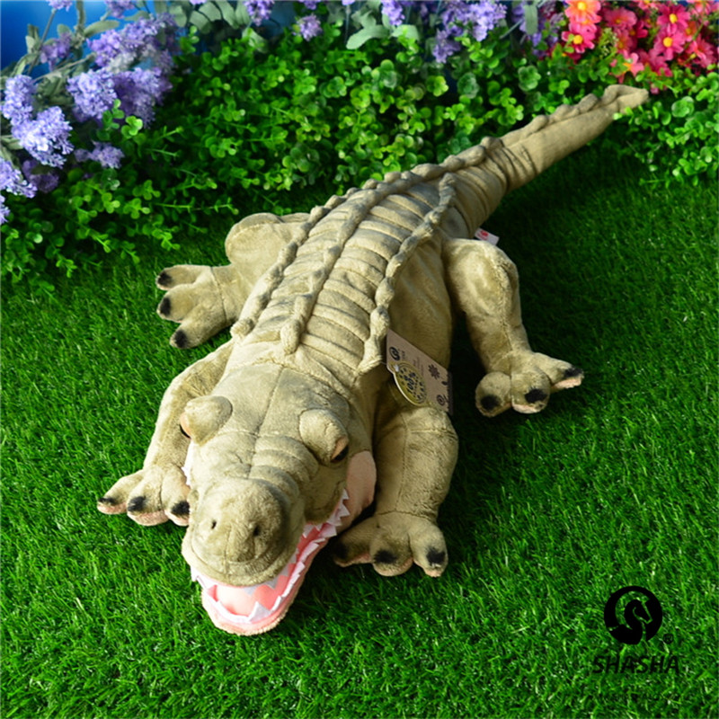 Superior qualityNile crocodile Plush toy Alligator Crocodile Real Life Plush Toy Stuffed Animal Doll For Kid Gift  75cm stuffed animal 44 cm plush standing cow toy simulation dairy cattle doll great gift w501