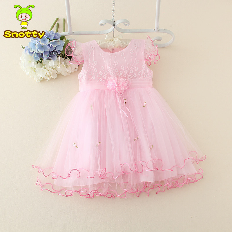 2015 latest 1 year old party dress baby white princess patterns ...