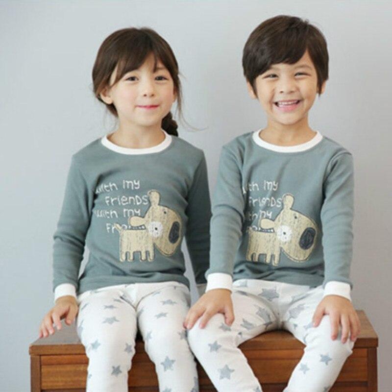 купить Winter Kids Pajamas Sleepwear Big Boys Girls Pajamas Sets Pyjamas Kids Clothes Nightwear Homewear Toddler Clothes Garcon Suits по цене 811.21 рублей