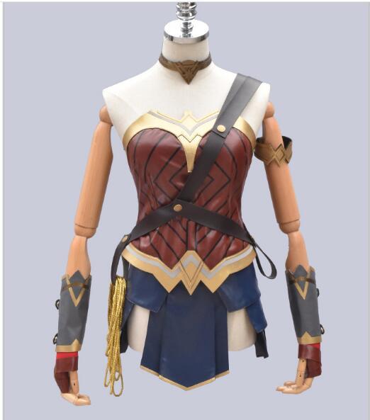 Wonder Woman Costume Halloween costumes pour adulte custom made Justice League Wonder Woman Cosplay Costume de super héros costume