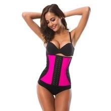 Womens Body Shaper Plus Size Belt Hot Slimming 9 Steel Bones Latex Waist Trainer Corset Ladies Shapewear