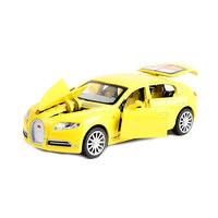 Oyuncak Araç Bugatti Veyron Spor Araba ışık ve ses ile, geri çekme, 6 Kapılar Açılabilir