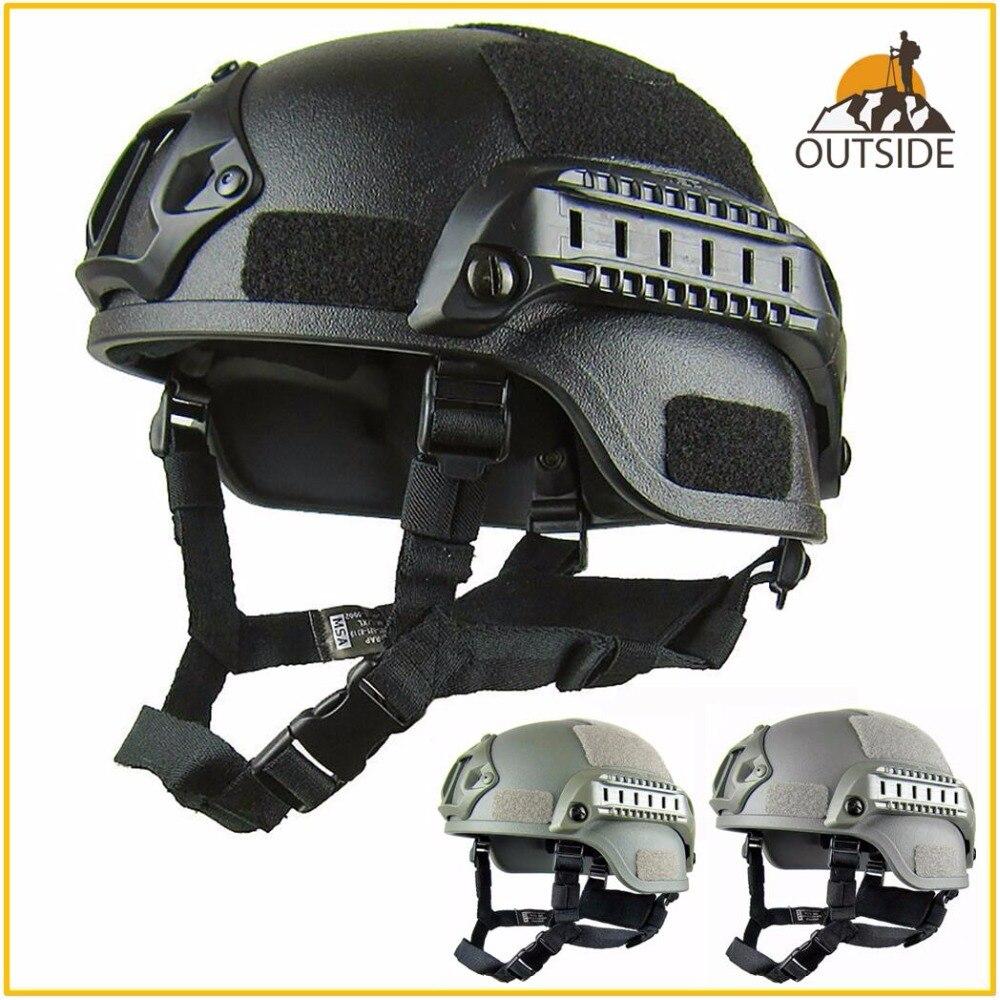 Calidad ligero rápido casco MICH2000 Airsoft MH casco táctico táctica al aire libre Painball CS SWAT en proteger el equipo