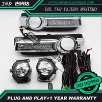 Hot Sale 12V 6000k LED DRL Daytime Running Light Case For Mitsubishi Pajero Montero 2015 2016