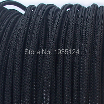 5M new arrived Black Nylon Braided Cable Sleeving Shielding ...