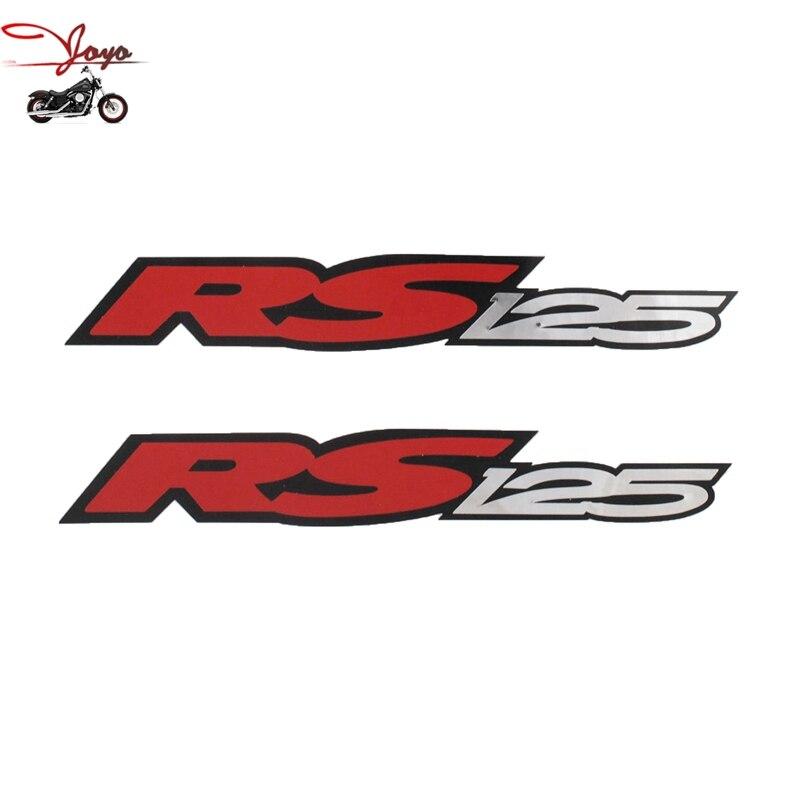 Motorrad Schwanz Aufkleber Aufkleber Tank Aufkleber Refit Für Aprilia Rs125 Kleine X 2 Chrom Rot Schwarz 18 Cm