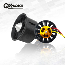 QX-MOTOR 64mm EDF 2822 2200KV Motor Brushless Duct Fan Composite Material Housing 12 Blade For RC Airplane Drone Parts