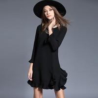 Vestidos Autumn Spring Women Dress Brand Plus Size 5XL High Quality Dress With Dentelle Black Red