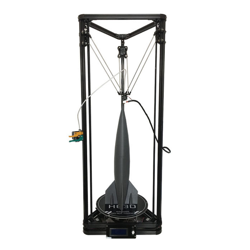 HE3D Date Kossel K280 grand delta 3D imprimante kit impresora 24 v 400 w puissance avec auto niveau et chaleur lit deux filament pour cadeau